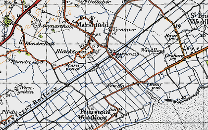 Old map of Blacktown in 1947