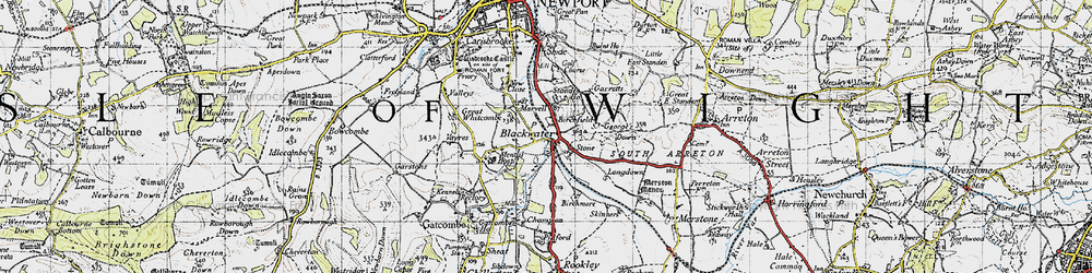 Old map of Whitecroft in 1945