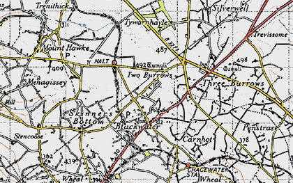 Old map of Blackwater in 1946