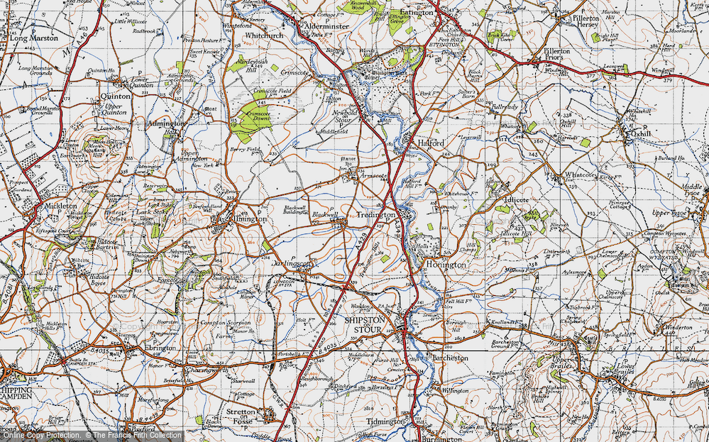 Old Map of Blackwell, 1946 in 1946