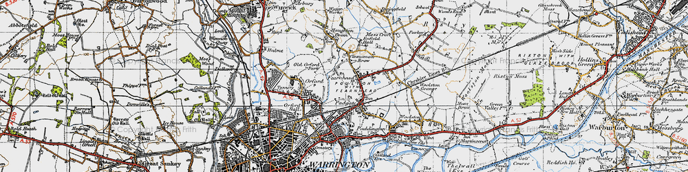 Old map of Blackwood in 1947