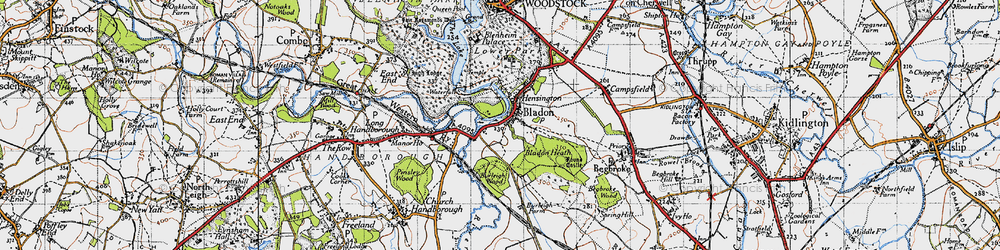 Old map of Lince, The in 1946
