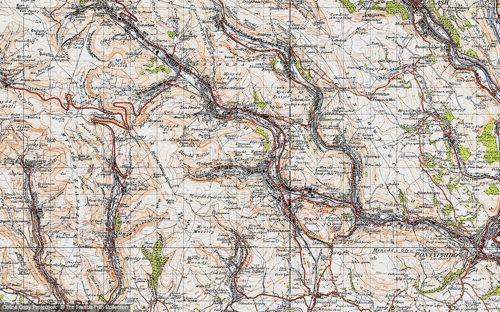 Old Map of Blaen Clydach, 1947 in 1947