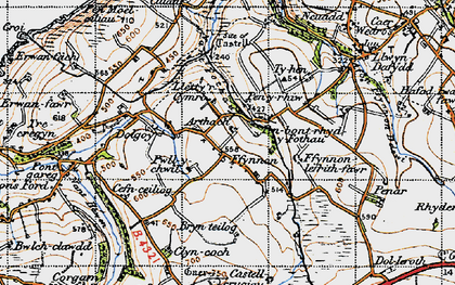 Old map of Arthach in 1947