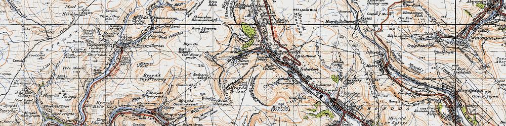 Old map of Blaencwm in 1947