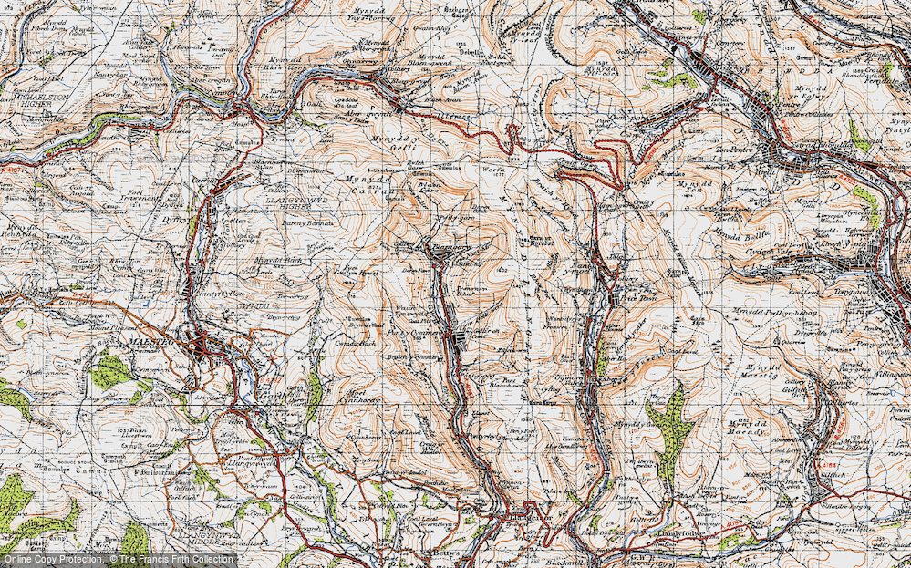 Old Map of Blaengarw, 1947 in 1947