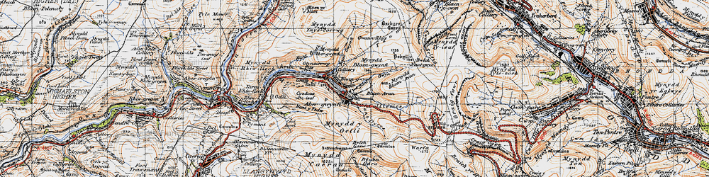 Old map of Blaengwynfi in 1947