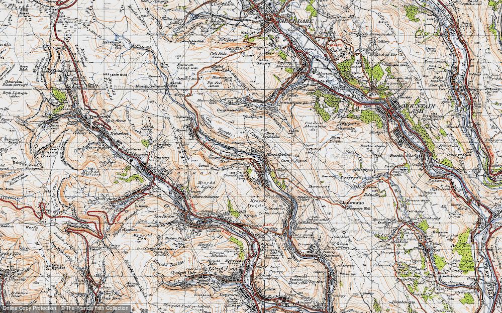 Old Map of Blaenllechau, 1947 in 1947