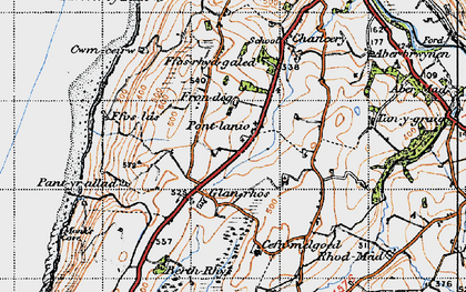 Old map of Blaenplwyf in 1947