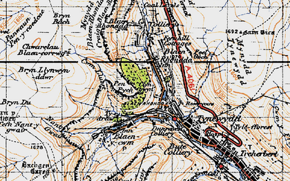 Old map of Blaenrhondda in 1947