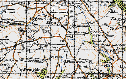 Old map of Blaenwaun in 1946