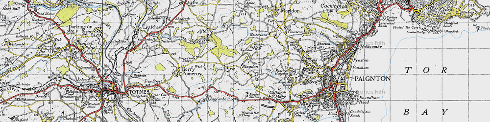 Old map of Afton in 1946