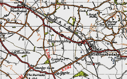 Old map of Blaguegate in 1947