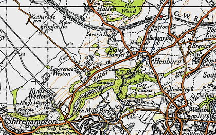 Old map of Blaise Hamlet in 1946