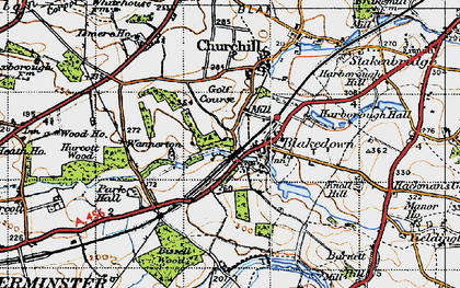 Old map of Blakedown in 1947