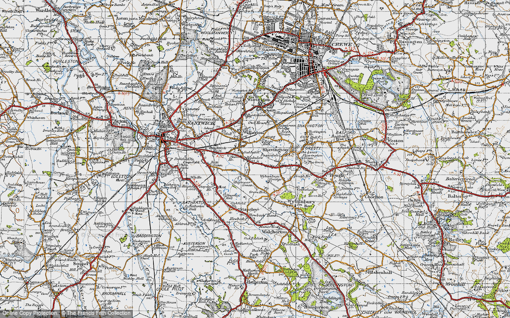 Old Map of Blakelow, 1947 in 1947