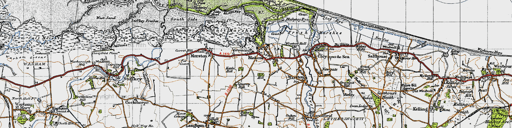 Old map of Agar Creek in 1946
