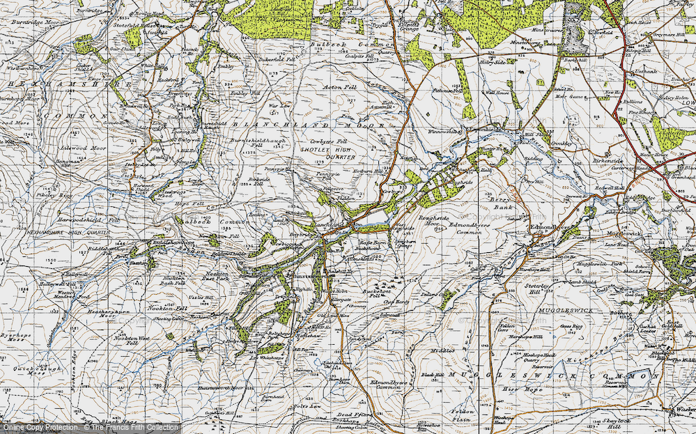 Old Map of Historic Map covering Acton in 1947
