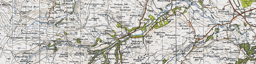 Old map of West Ruffside in 1947