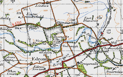 Old map of Todheugh in 1947