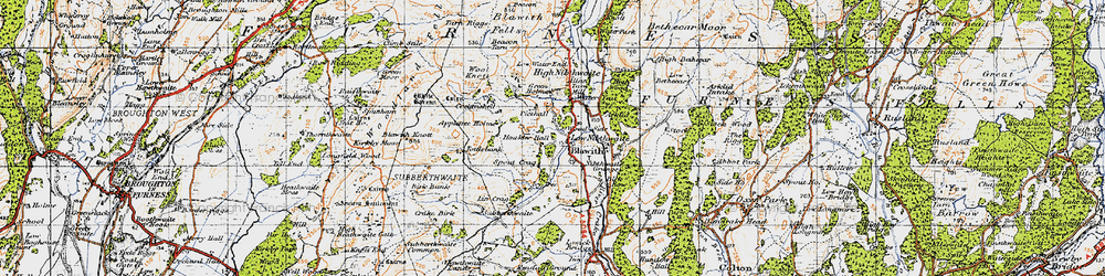Old map of Appletree Holme in 1947