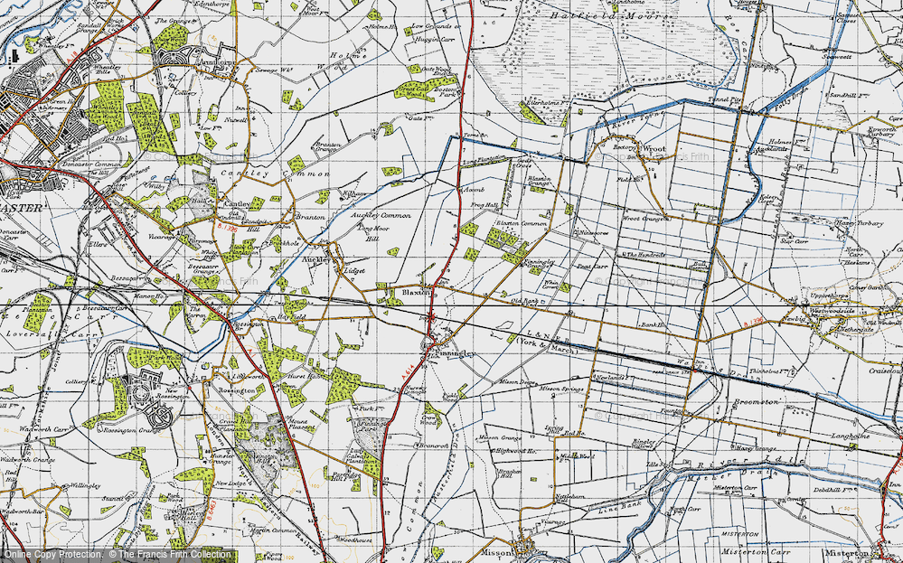 Old Map of Blaxton, 1947 in 1947
