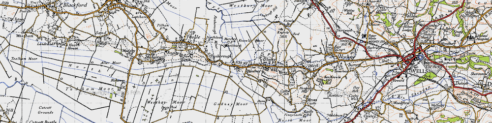 Old map of Westbury Moor in 1946