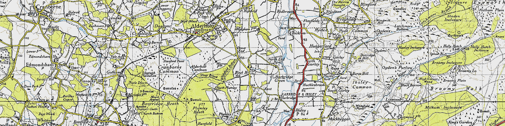 Old map of Whitefield Bottom in 1940
