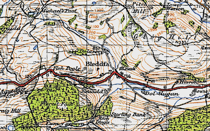 Old map of Bleddfa in 1947