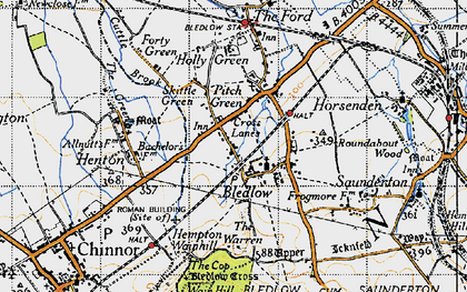 Old map of Bledlow in 1947