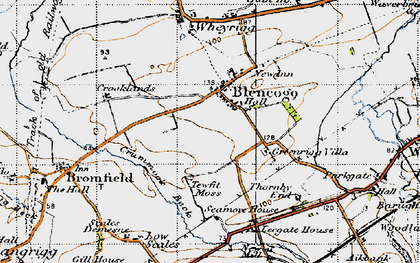 Old map of Leegate Ho in 1947