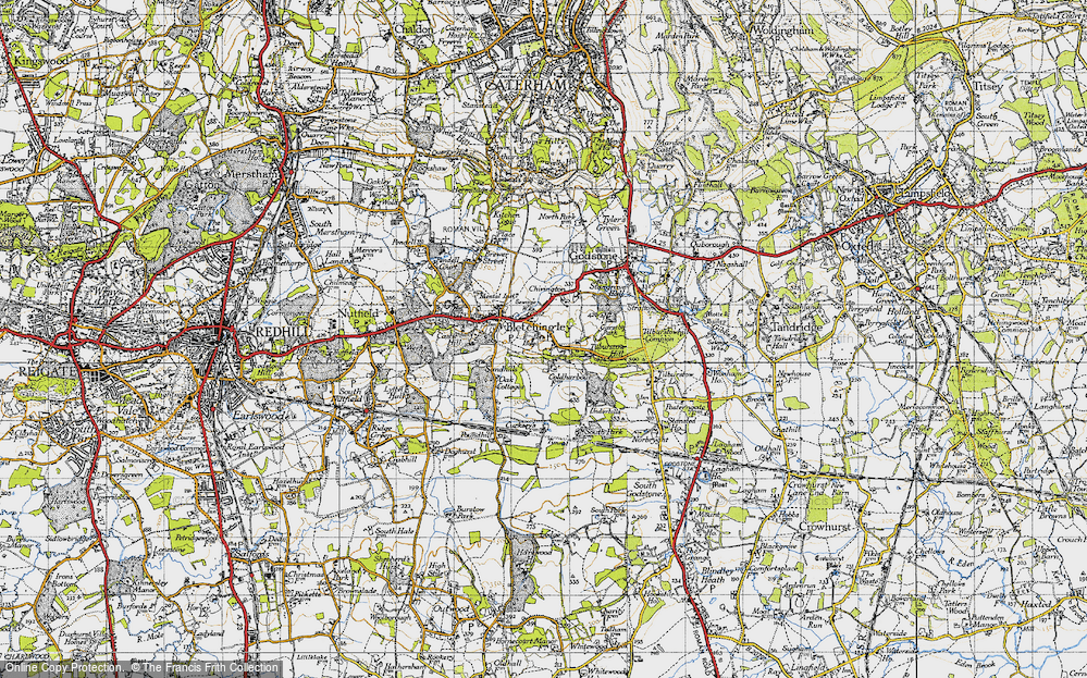 Old Map of Historic Map covering Wychcroft Ho in 1946