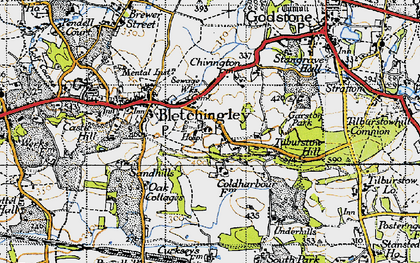 Old map of Wychcroft Ho in 1946