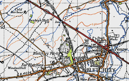 Old map of Bletchley in 1946