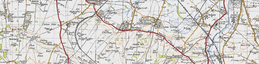 Old map of Blewbury in 1947
