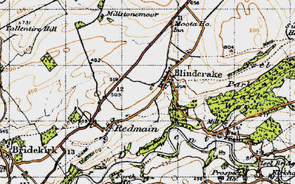 Old map of Laol Moota in 1947
