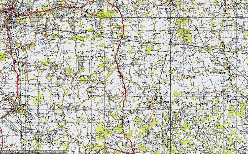 Old Map of Blindley Heath, 1946 in 1946