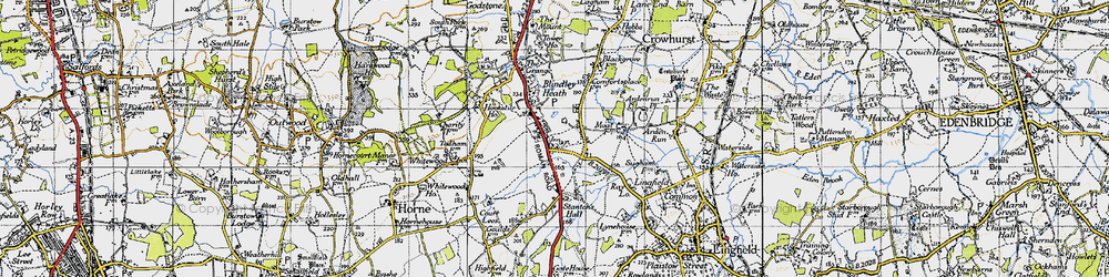 Old map of Ardenrun in 1946