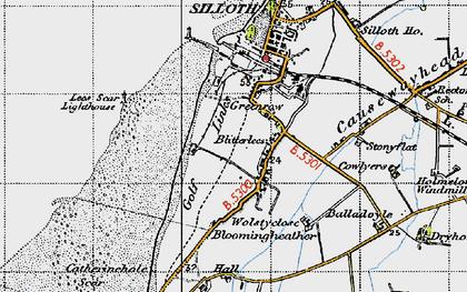 Old map of Lees Scar in 1947