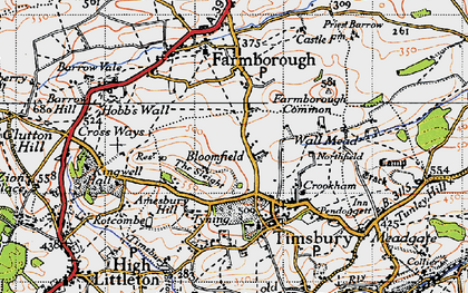 Old map of Bloomfield in 1946