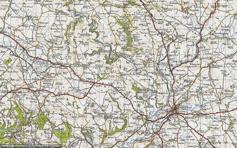 Old Map of Blore, 1946 in 1946