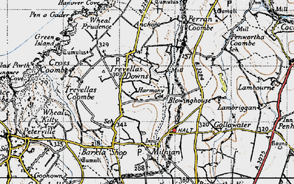 Old map of Blowinghouse in 1946