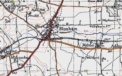 Old map of Bloxham in 1946