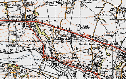Old map of Blucher in 1947
