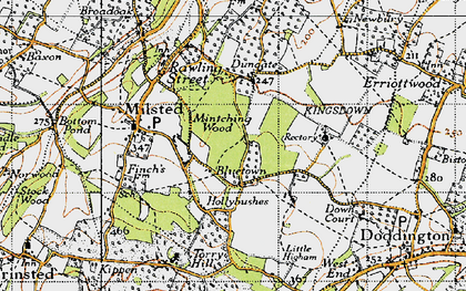 Old map of Bluetown in 1946