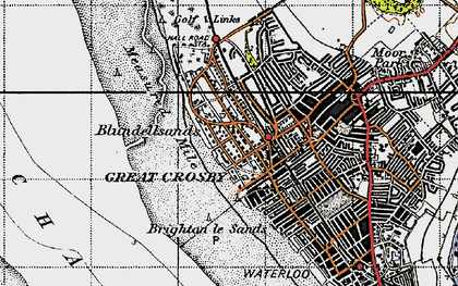 Old map of Blundellsands in 1947