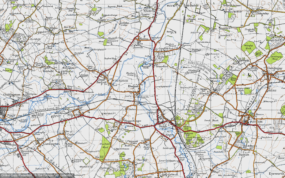 Old Map of Blunham, 1946 in 1946