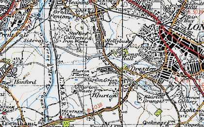 Old map of Blurton in 1946