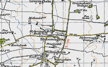 Old map of Blyborough in 1947