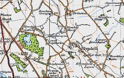 Old map of White Sitch in 1946